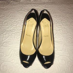 Christian Louboutin black heels. Size 41.